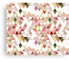 Mixed colors triangles Canvas Print