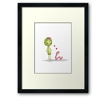 I love you for your brains Framed Print