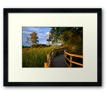 Manning River Sundown Framed Print