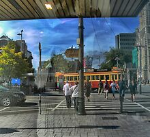 Christchurch Wanderings ( 1 ) Reflections on the Square by Larry Lingard-Davis