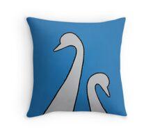 MUM & BABY SWAN Throw Pillow