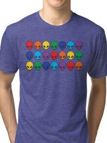 Rainbow Aliens Tri-blend T-Shirt