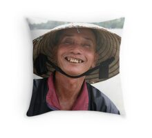 Fisherman with a twist Throw Pillow