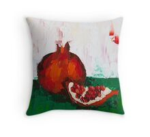 Chunk of Pomegranate Throw Pillow