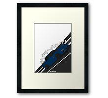 Mazda RX7 FD - Rotary Power (Blue) Framed Print