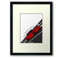 Mazda RX7 FD - Rotary Power (Red) Framed Print