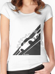 Mazda RX7 FD - Rotary Power (White) Women's Fitted Scoop T-Shirt