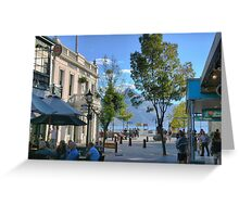 Shopping Mall with a view.. Greeting Card