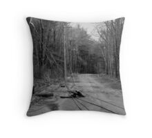 The Lines are Down: Ice Storm Series Monochrome Throw Pillow