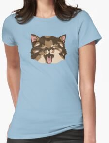 Meowing Kitten Womens Fitted T-Shirt