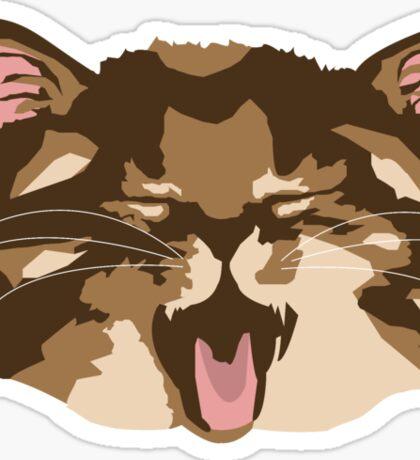 Meowing Kitten Sticker