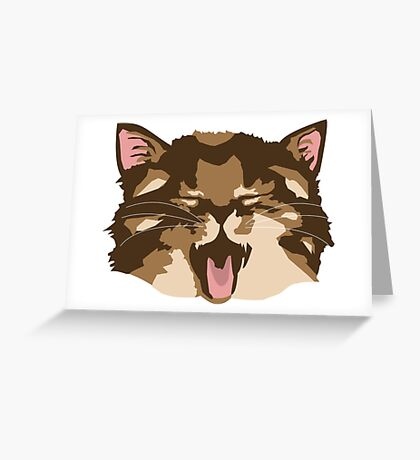 Meowing Kitten Greeting Card