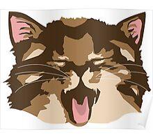 Meowing Kitten Poster
