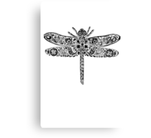 Dragonfly Doodle Canvas Print