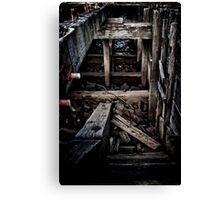 Derelict Barge Canvas Print