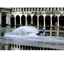 WAKEBOARDING IN ST MARKS SQUARE Photographic Print