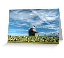 groundhog mountain observation tower - fancy gap virginia Greeting Card