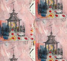 Mixed Media Pagoda by Amanda Judd