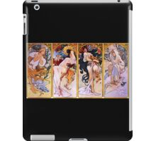 'The Four Seasons' by Alphonse Mucha (Reproduction) iPad Case/Skin