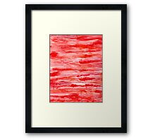 Abstract Watercolor Red Framed Print
