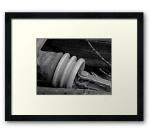 Cermaic Insulated Conductor: Ice Storm Series Monochrome Framed Print