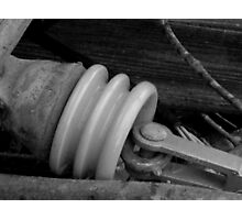 Cermaic Insulated Conductor: Ice Storm Series Monochrome Photographic Print
