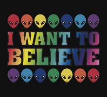 Rainbow I Want to Believe Kids Clothes