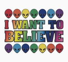 Rainbow I Want to Believe T-Shirt