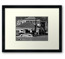 Drilling Down to the Waterline Framed Print