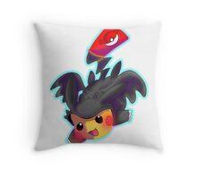 Toothless Pikachu Throw Pillow