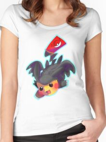 Toothless Pikachu Women's Fitted Scoop T-Shirt