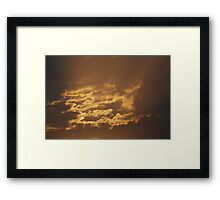 Shining Clouds Framed Print