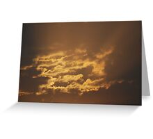 Shining Clouds Greeting Card