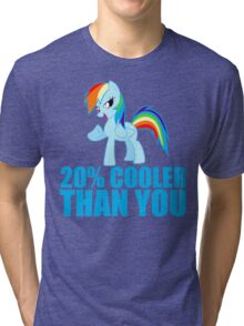 Rainbow Dash: 20% Cooler Than You Tri-blend T-Shirt