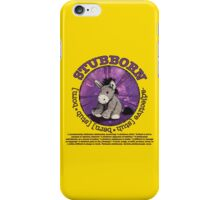 Stubborn Donkey Plush (yellow) iPhone Case/Skin