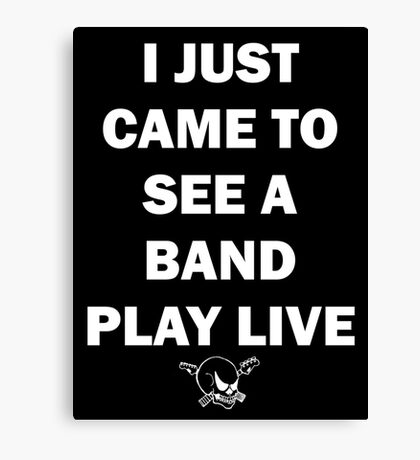 A Band Play Live Canvas Print
