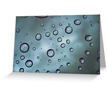 Windshield Raindrops Greeting Card
