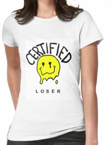 //certified loser// Womens Fitted T-Shirt