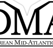 DeLorean Mid-Atlantic Official Logo Black Badge Sticker