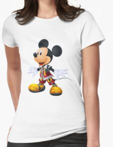Kingdom Hearts King Mickey Womens Fitted T-Shirt