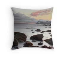 Icy Calm Throw Pillow