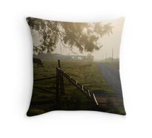 Cattle Guard Sunrise Throw Pillow