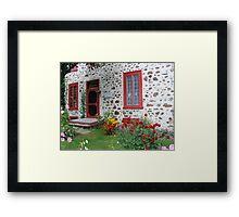 The Stone House Quebec          Framed Print
