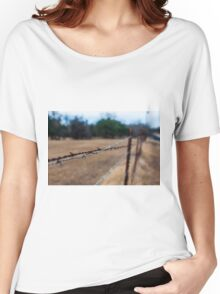 Rusty Barbed Wire Fence Women's Relaxed Fit T-Shirt