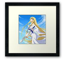 Goddess Hylia and Master Sword Framed Print