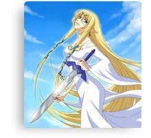Goddess Hylia and Master Sword Canvas Print