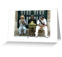 Three Gents Greeting Card