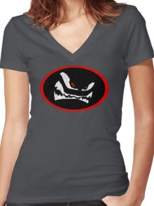 Mr. Mean Women's Fitted V-Neck T-Shirt
