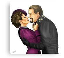 the master and missy Metal Print