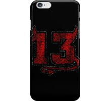 Lucky Devil 13 Distressed iPhone Case/Skin